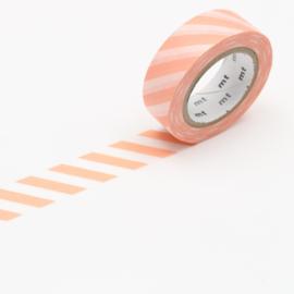 Papieren tape Stripe Salmon Pink - MT