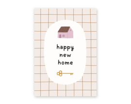 Postkaart Happy New Home - Leonie van der Laan