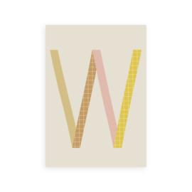 Postkaart letter W - Leonie van der Laan