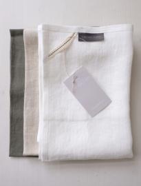 Theedoek (White, Oat, Sage) - Timeless Linen