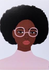 Postkaart Roze Bril - Piet & Kees
