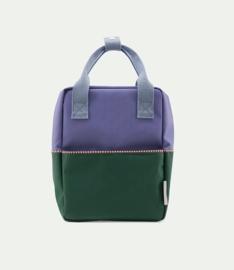 Kleine Rugzak Colourblocking Purple-Green - Sticky Lemon