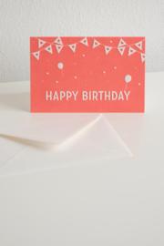 Wenskaart Happy Birthday - Letterpers