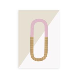 Postkaart letter O - Leonie van der Laan