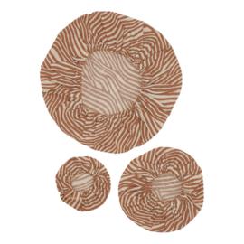 Katoenen Pannenhoes set van 3 Terra