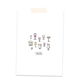 Postkaart Cheers - A Tiny Cheer