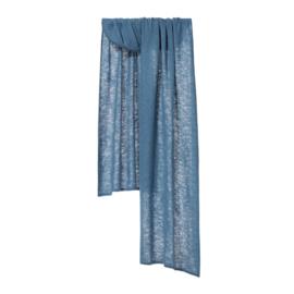 Shawl Knitted Solid Azure Blue - Bufandy