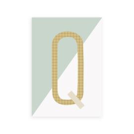 Postkaart letter Q - Leonie van der Laan