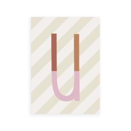 Postkaart letter U - Leonie van der Laan