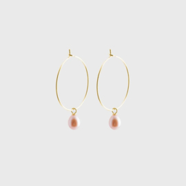 Pearl Creole Earrings Gold - Julia Otilia