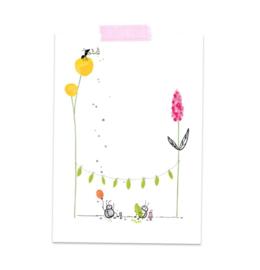 Postkaart Party Beestjes - A Tiny Cheer