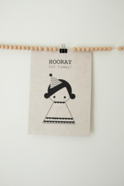 A4 Poster Hooray Girl - SAGSTROM&co