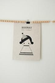 A4 Poster Hooray Girl - SAGSTROM&co