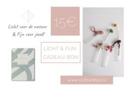Licht & Fijn Cadeau-Bon € 15,00