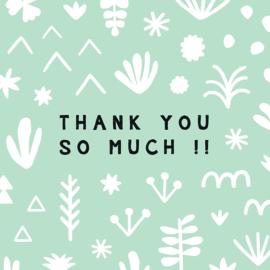 Wenskaart Thank You vierkant - Leonie van der Laan