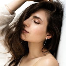 Floret on stem Earrings silver - Julia Otilia
