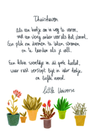 Postkaart Thuishaven - Little Universe