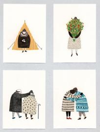 Postkaart set van 4 - Liekeland