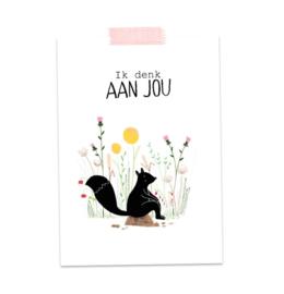 Postkaart Ik Denk aan Jou - A Tiny Cheer