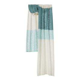 Shawl Knitted Blockstripe Daydream Blue - Bufandy