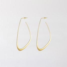 Flow Tide Earrings Gold - Julia Otilia