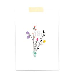 Postkaart Veel Liefs - A Tiny Cheer