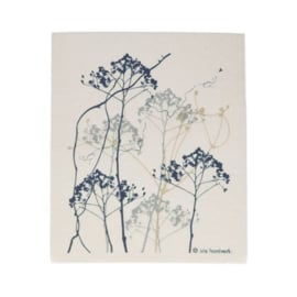 Huishouddoekje Print Blauw - Iris Hantverk