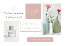 Licht & Fijn Cadeau-bon € 25,00