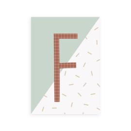 Postkaart letter F - Leonie van der Laan