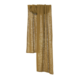 Shawl Knitted Solid Golden Olive - Bufandy