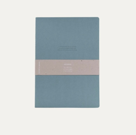 Notebook XL Blauw - Monk & Anna