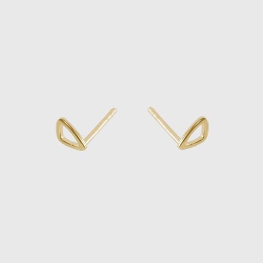 Tiny Pebble Studs Gold - Julia Otilia