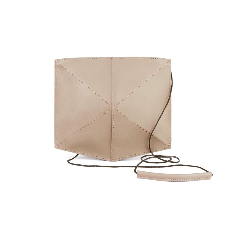 Schoudertas Mini Fold Nude - Zand Erover