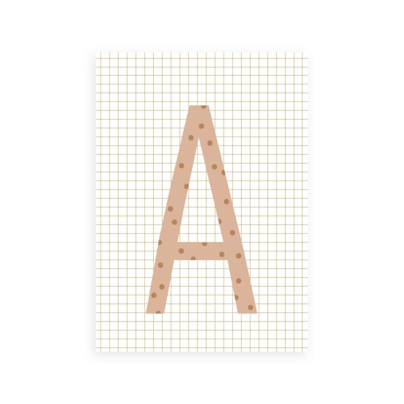 Postkaart letter A - Leonie van der Laan