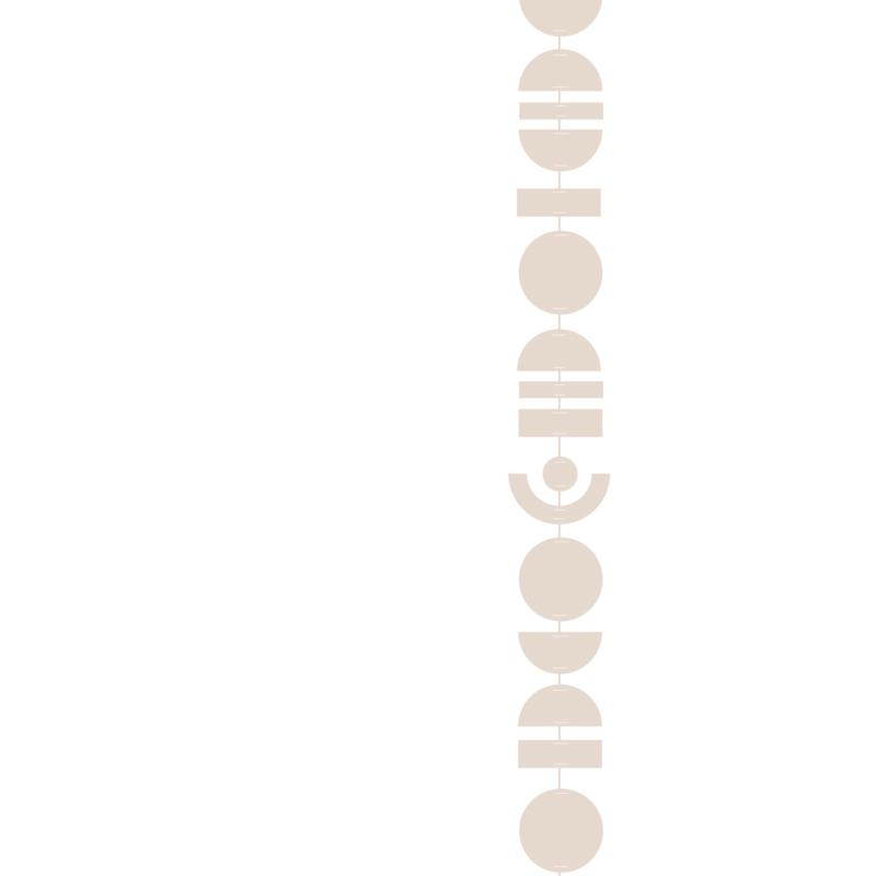 Abstrakt Slinger Beige - Jurianne Matter