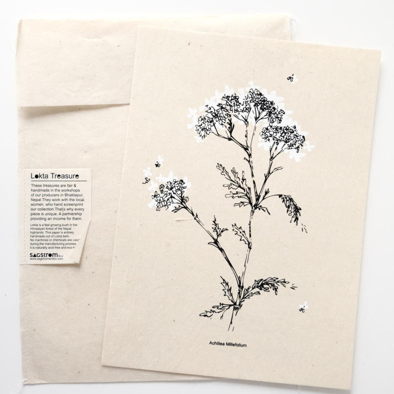 A4 Poster White Flower - SAGSTROM&co