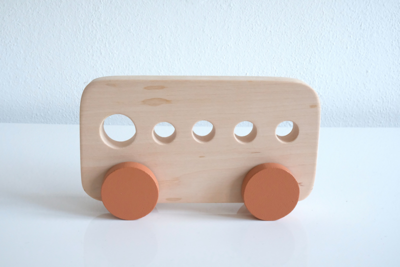Houten Bus Groot - Pinch Toys