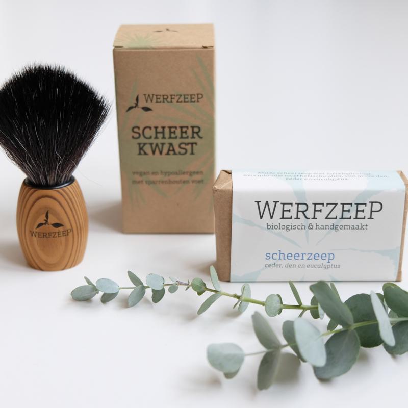 Scheerkwast en zeep Cadeau pakket