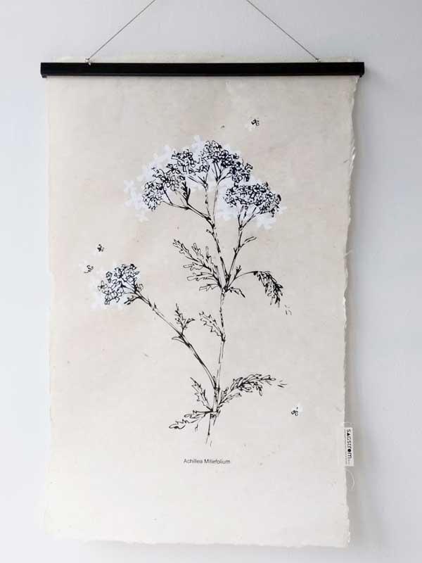Wall-Art White Flower - SAGSTROM&co