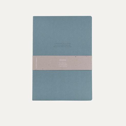Notebook XL Blauw - Monk & Anna