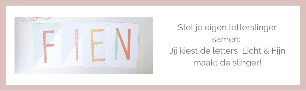 Letterkaarten slinger Licht & Fijn