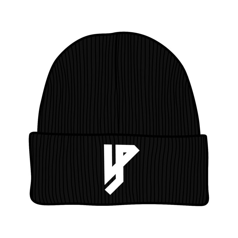 Yung Petsi's Teer Zwarte Logo Beanie