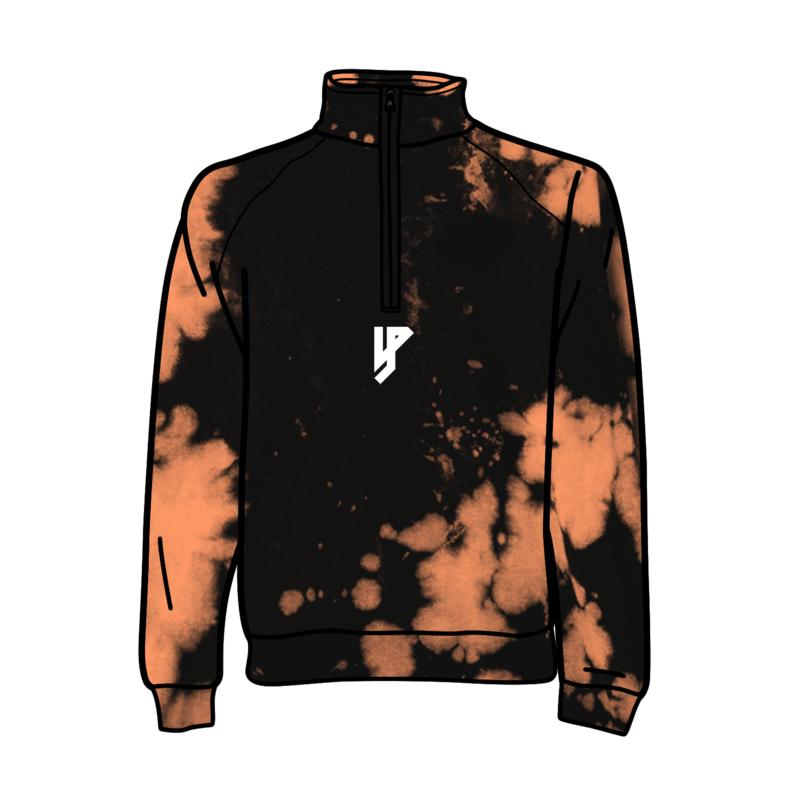Ontzettende Bleached Zipped Sweater - Logo