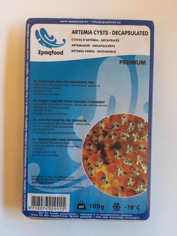 Artemia-eitjes (ontkapseld) blister 100 gram