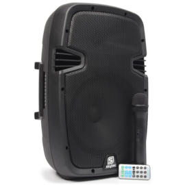 "SPJ-PA910 Mobiele Geluidset ABS 10"" BT/VHF/USB/MP3"
