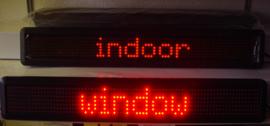 lichtkrant 68cm rood window