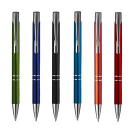 """50 stuks """"ebony"""" pen incl. lasergravure"""