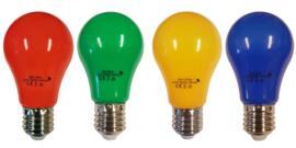 doos á 100 stuks LED lamp 2watt peervorm mix van 4 kleuren