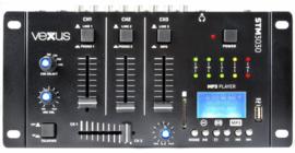 VexusSTM3030 4-Kanaals Mixer USB/MP3/BT/REC