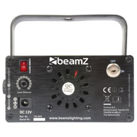 Beamz RG laser met blauwe led en afstandbediening